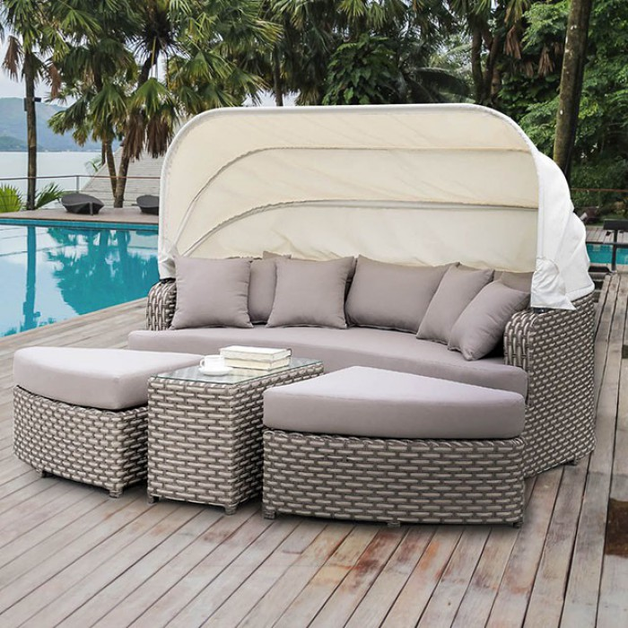 4 Piece Patio Daybed Close Up