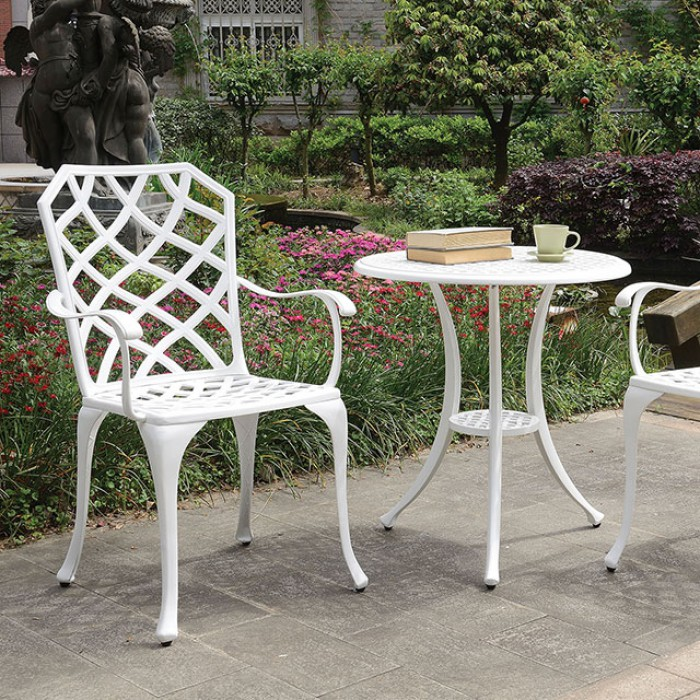 Round Patio Bistro Table Set Close Up