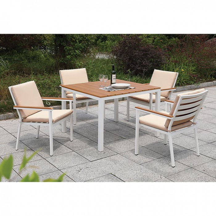 Complete Patio Square Dining Table Set