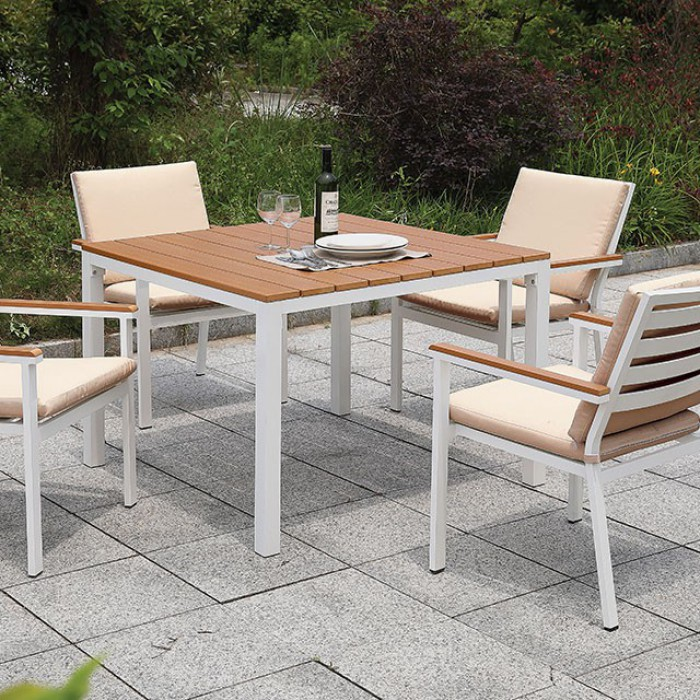 Patio Square Dining Table Set Close Up