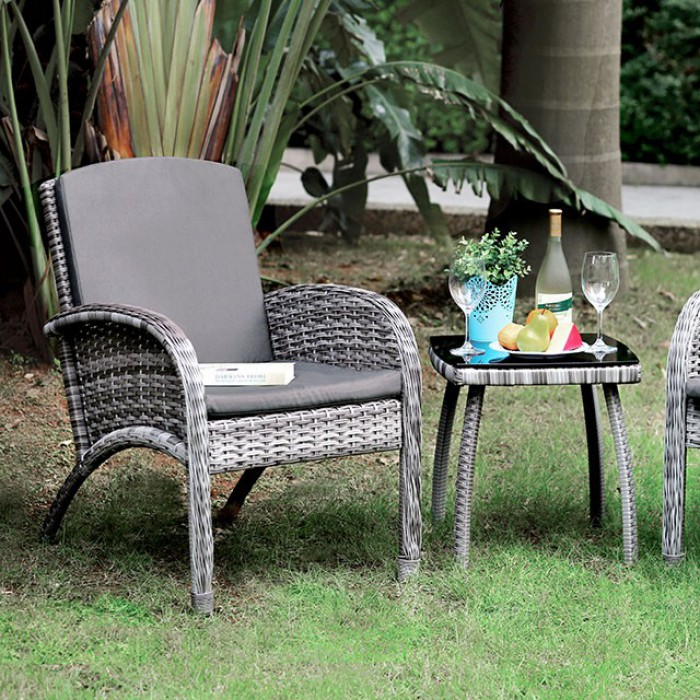 3 Piece Patio Seating Set Close Up