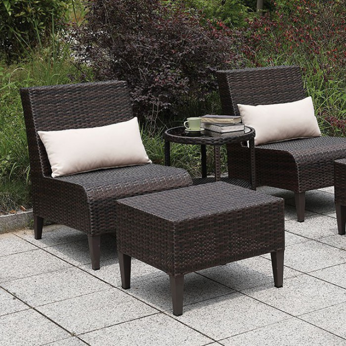 Brown Patio Sofa Set Close Up