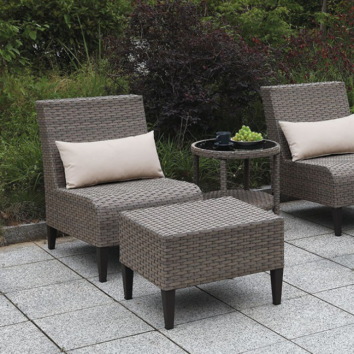 Gray Patio Sofa Set Close Up