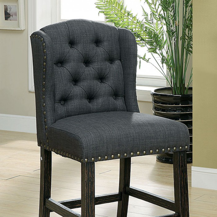 Gray Counter Height Chair Closer Details