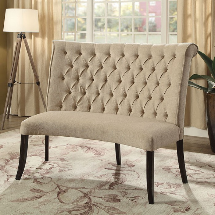 Ivory Loveseat Bench