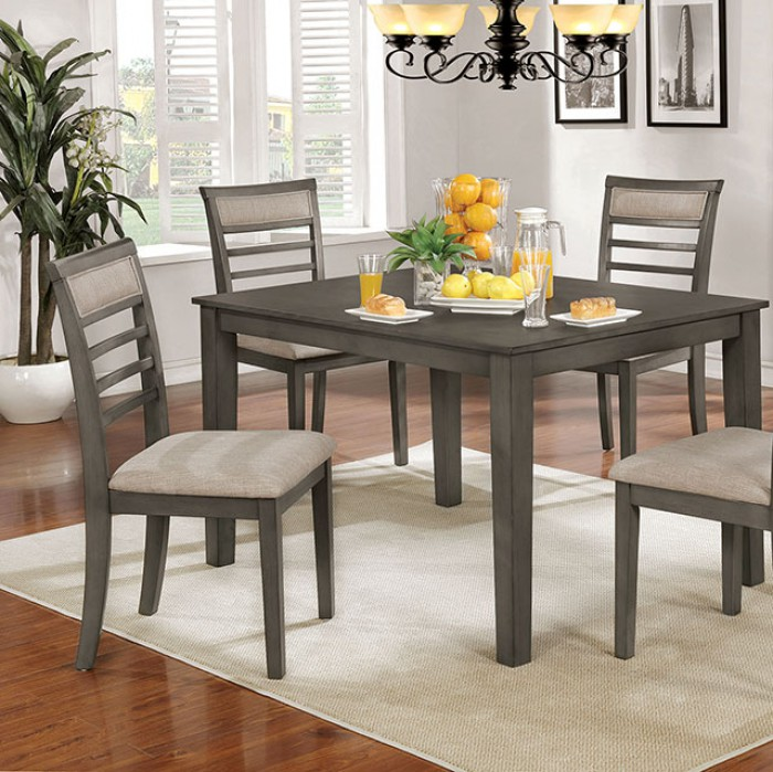 Complete 5 Piece Dining Table Set Closer Details