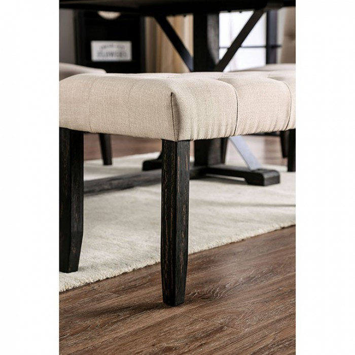 Ivory Bench Leg View