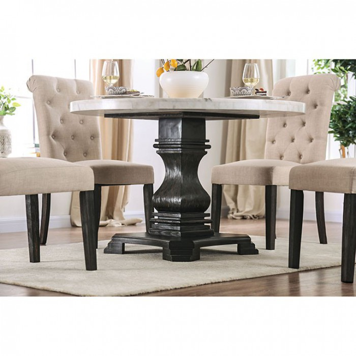 Round Dining Table Base View