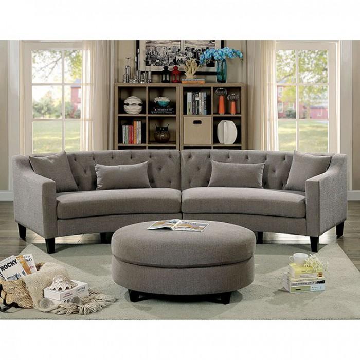 Warm Gray Complete Sectional Sofa Set
