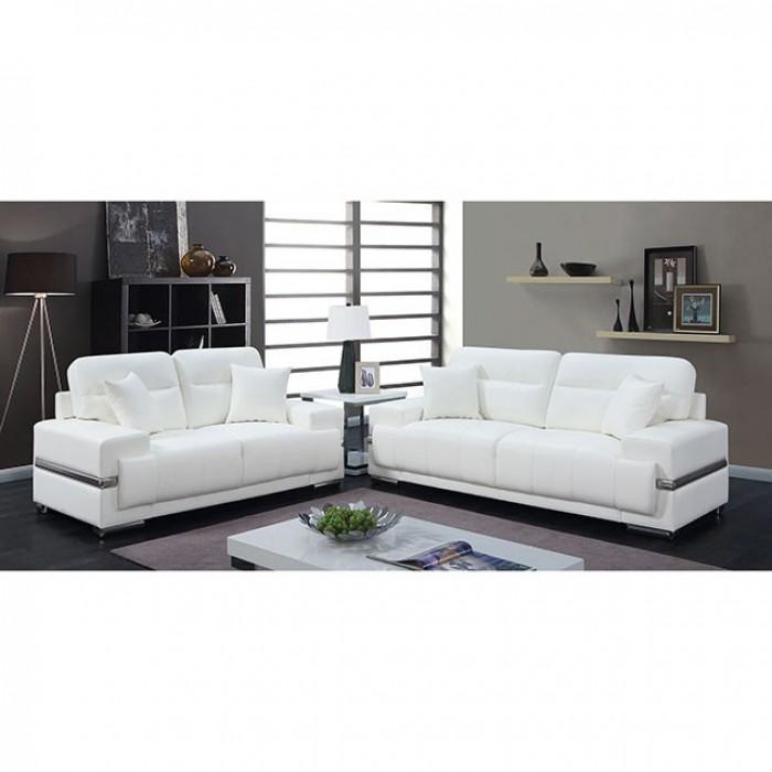 White Sofa and Loveseat