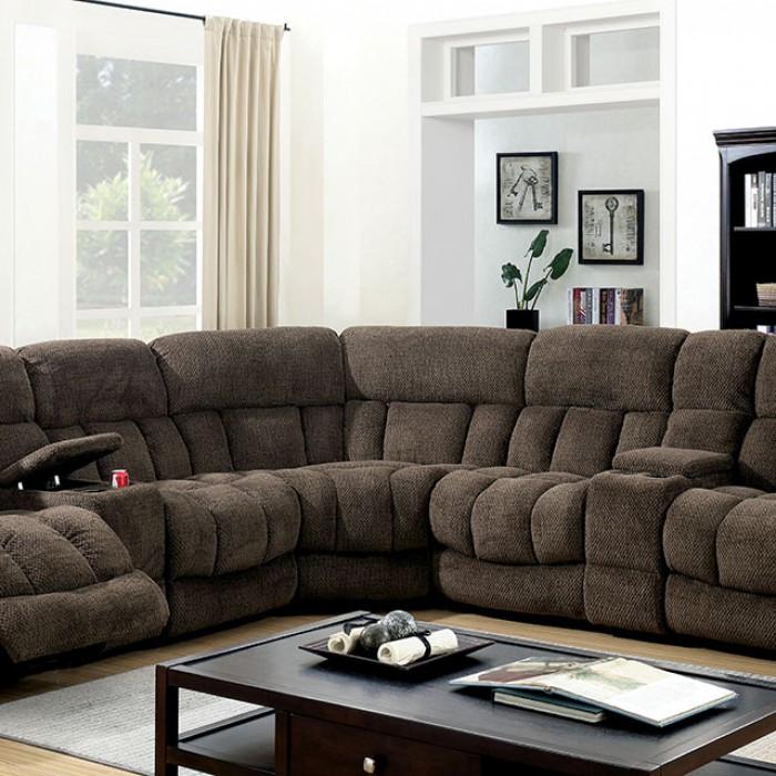 Brown Sectional Sofa Up Close