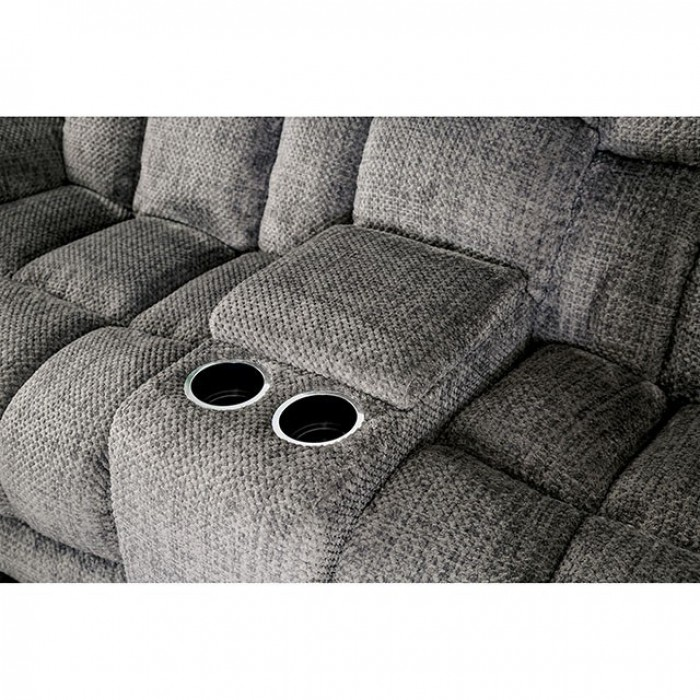 Gray Middle Console Cup Holders