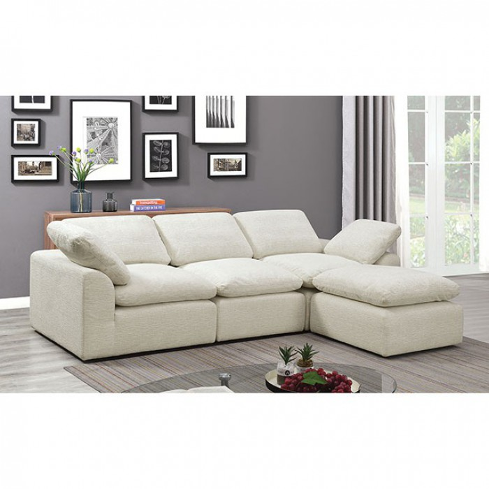 Cream 4 Piece Sectional Sofa