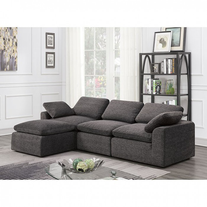 Gray 4 Piece Sectional Sofa