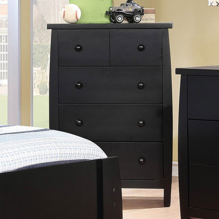 Black Chest Top Drawer Opened
