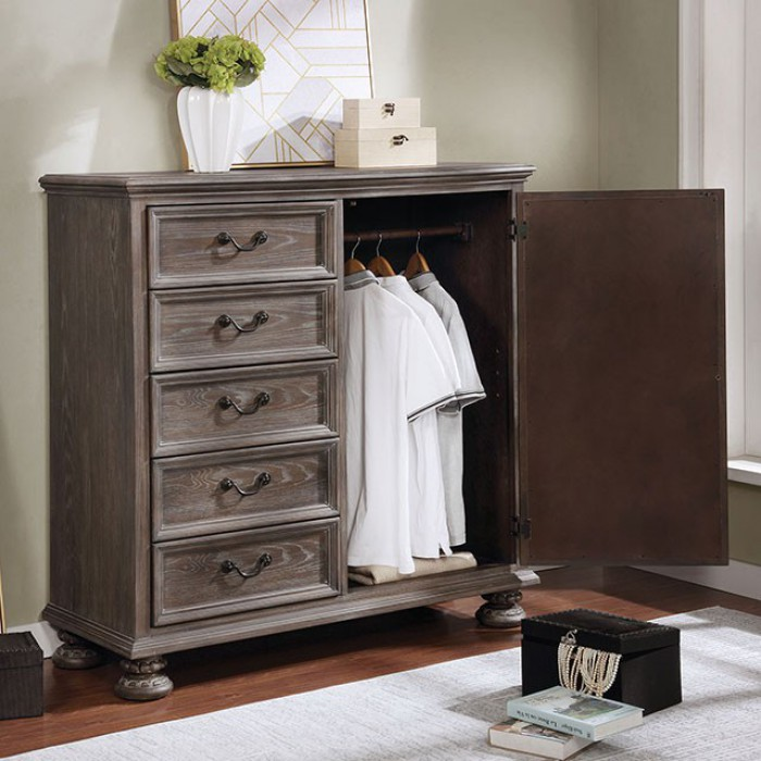 Armoire Used with Clothes Rack