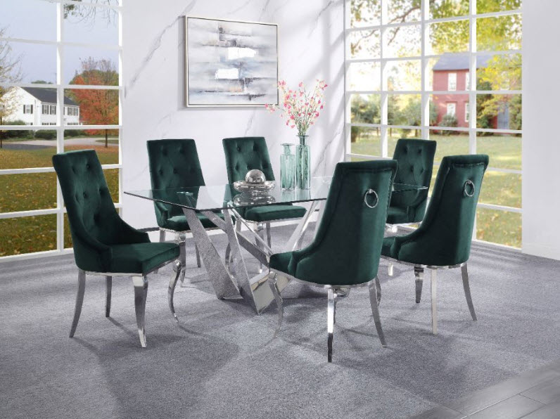 Complete Set W/Green Chairs