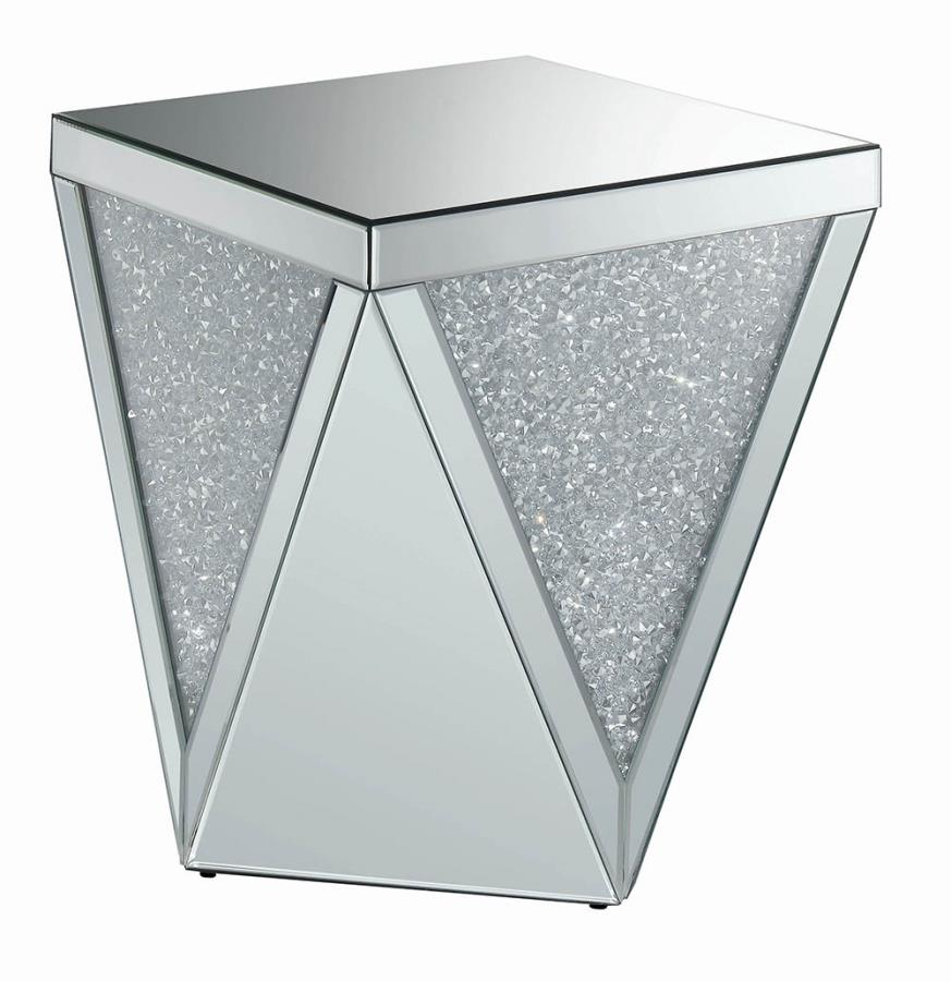 Crystal Encrusted End Table Angle View