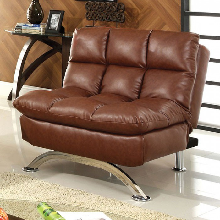 Saddle Brown Futon Chair