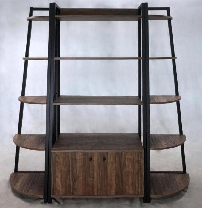 Complete Set W/1 Storage Book Shelf & 2 Corner Book Shelves