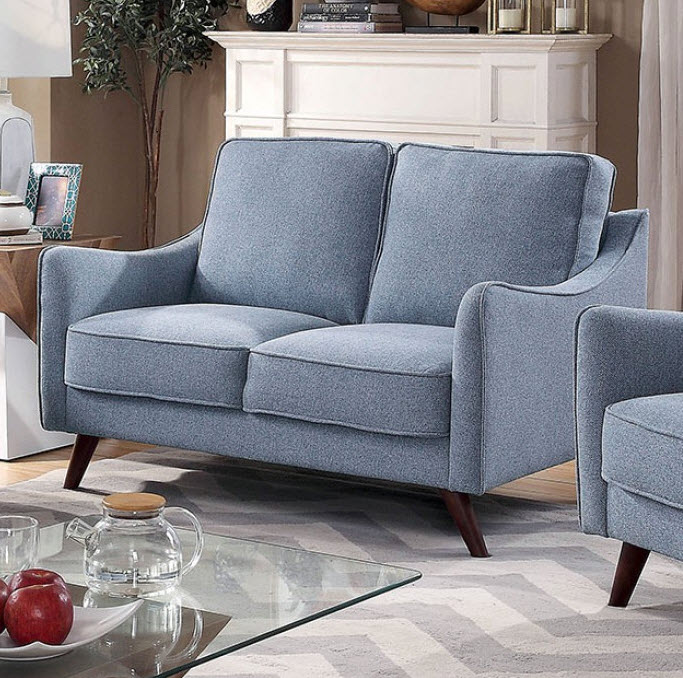 Light Blue Loveseat