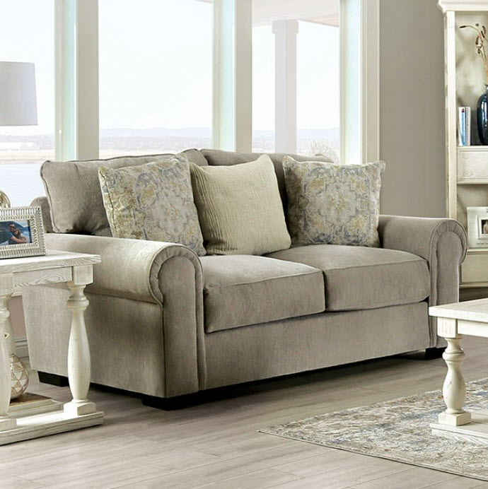 Gray Loveseat