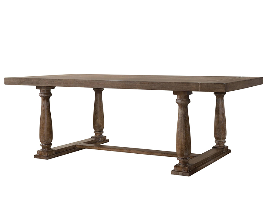 Weathered Oak Dining Table Angle
