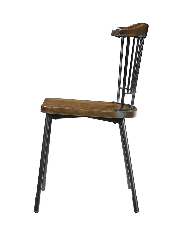 Black & Brown Oak Side Chair Side View