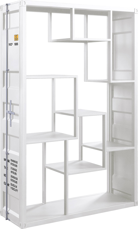 White Shelf Rack Angle