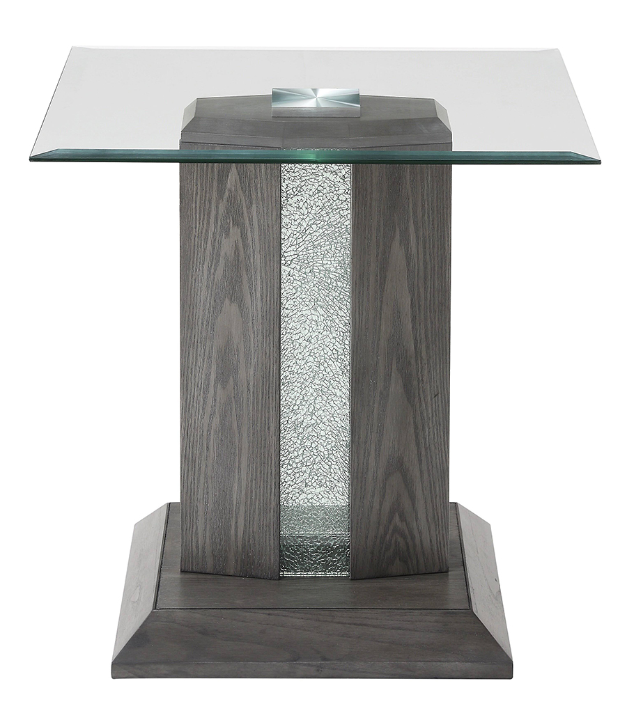 End Table w/ LED Inlay Off Front