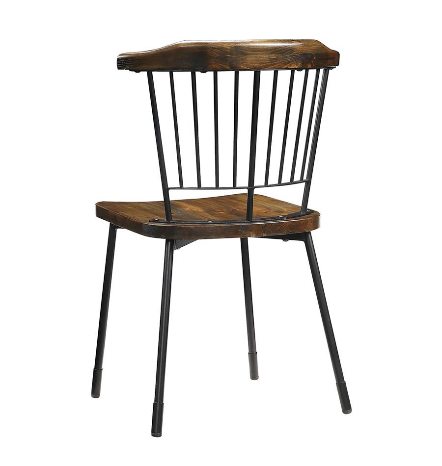 Black & Brown Oak Side Chair Back