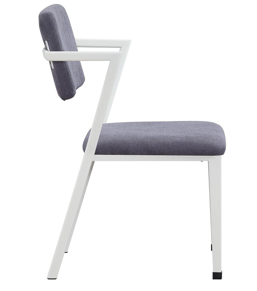 White Arm Chair Side