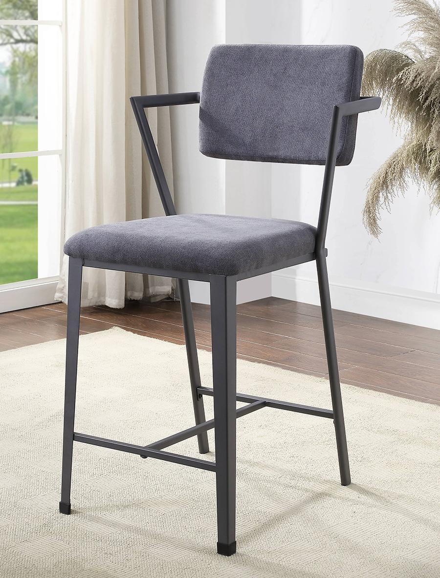 Gunmetal Counter Height Chair