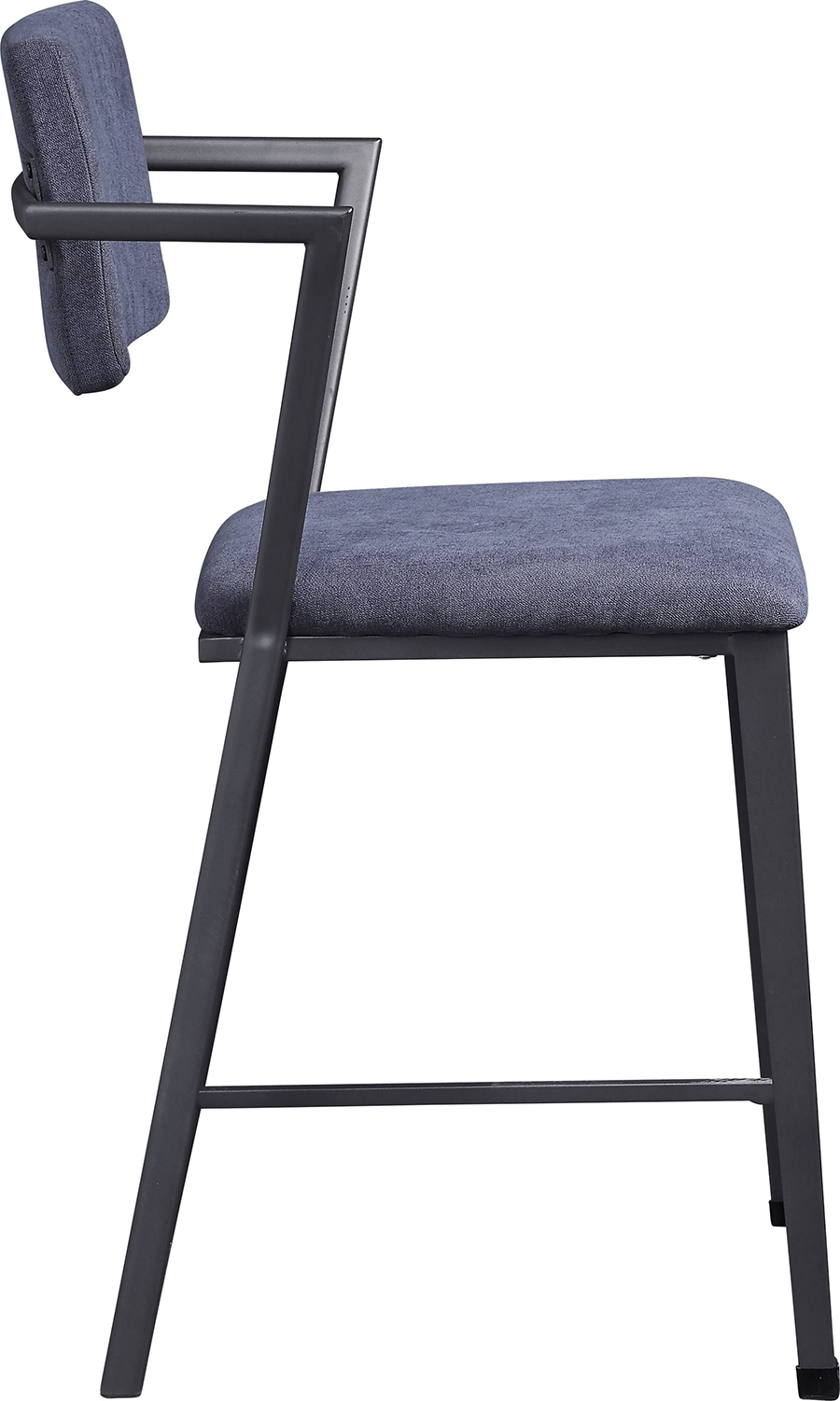 Gunmetal Counter Height Chair Side