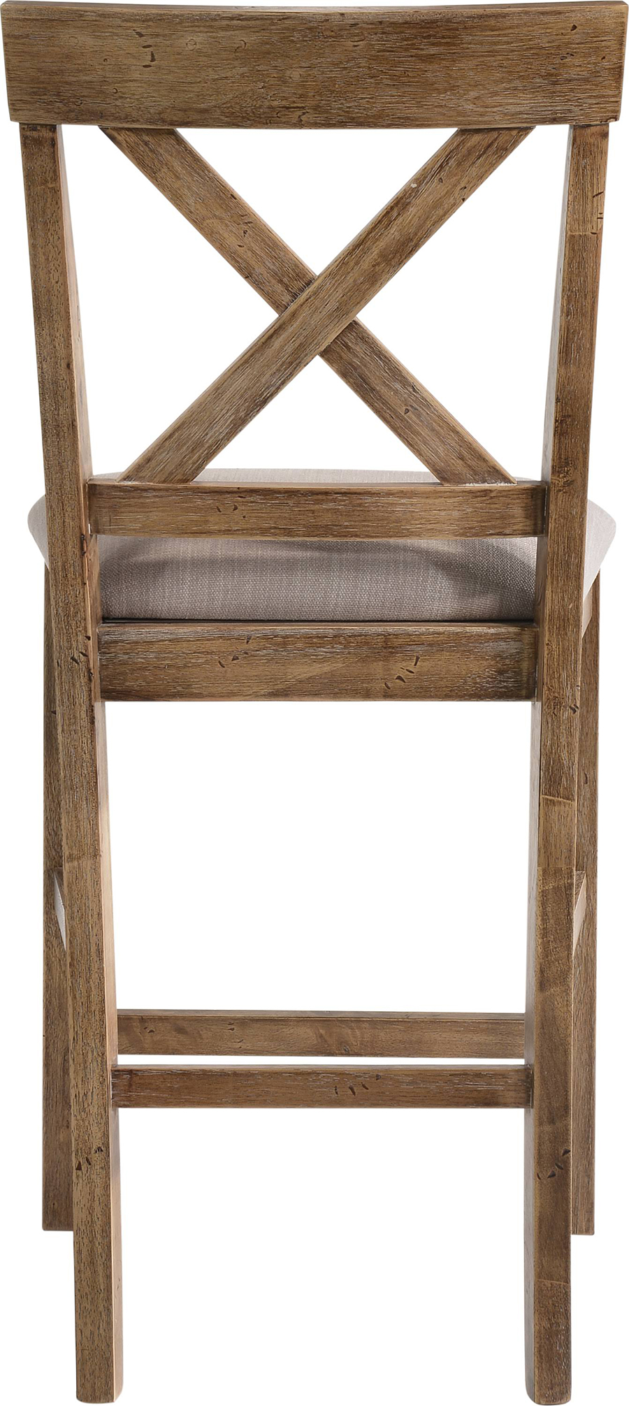 Weathered Oak Counter Height Chair Back