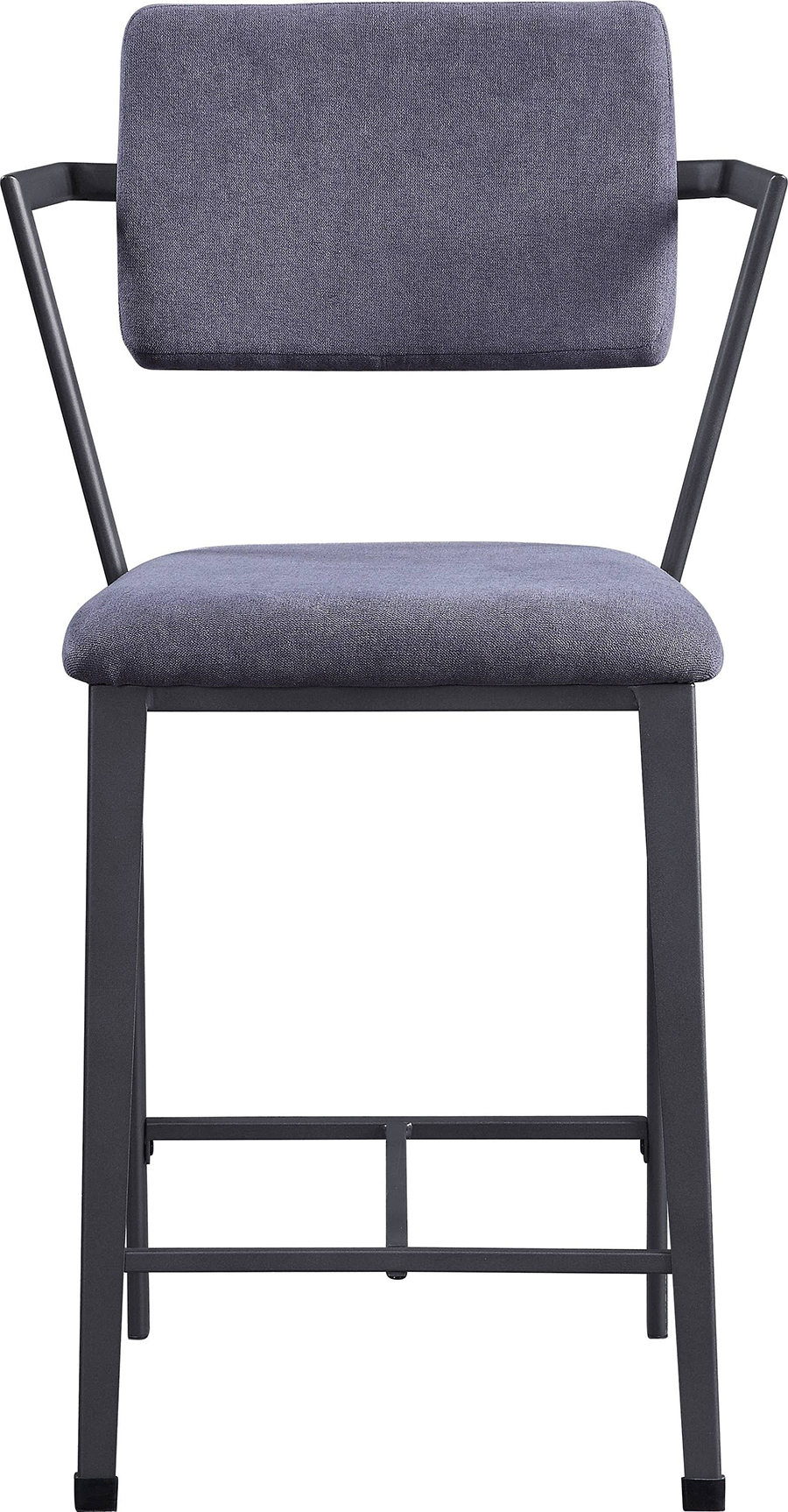 Gunmetal Counter Height Chair Front