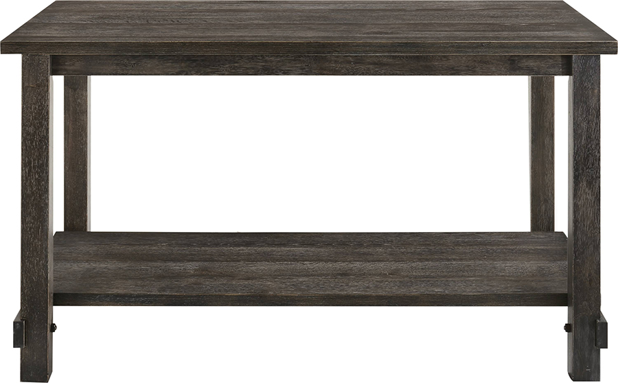Weathered Gray Counter Height Table Front