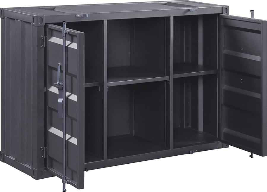 Gunmetal Server Angle w/ Doors Open