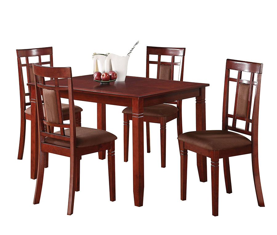 5 Piece Dining Table Set Angle
