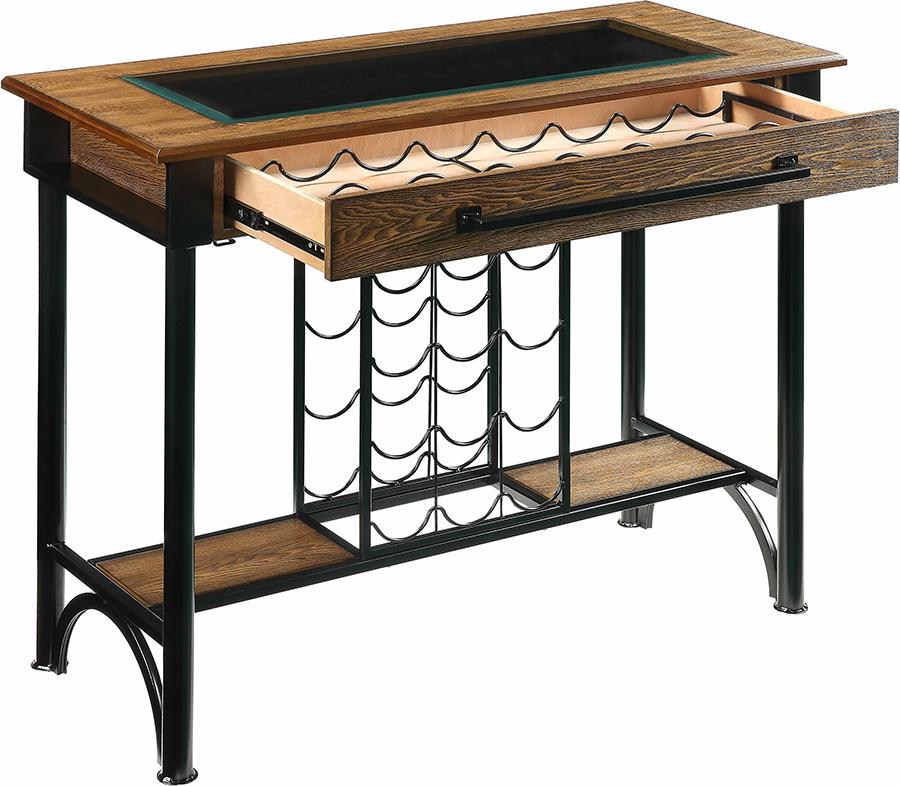 Bar Table Angle w/ Drawer Ope