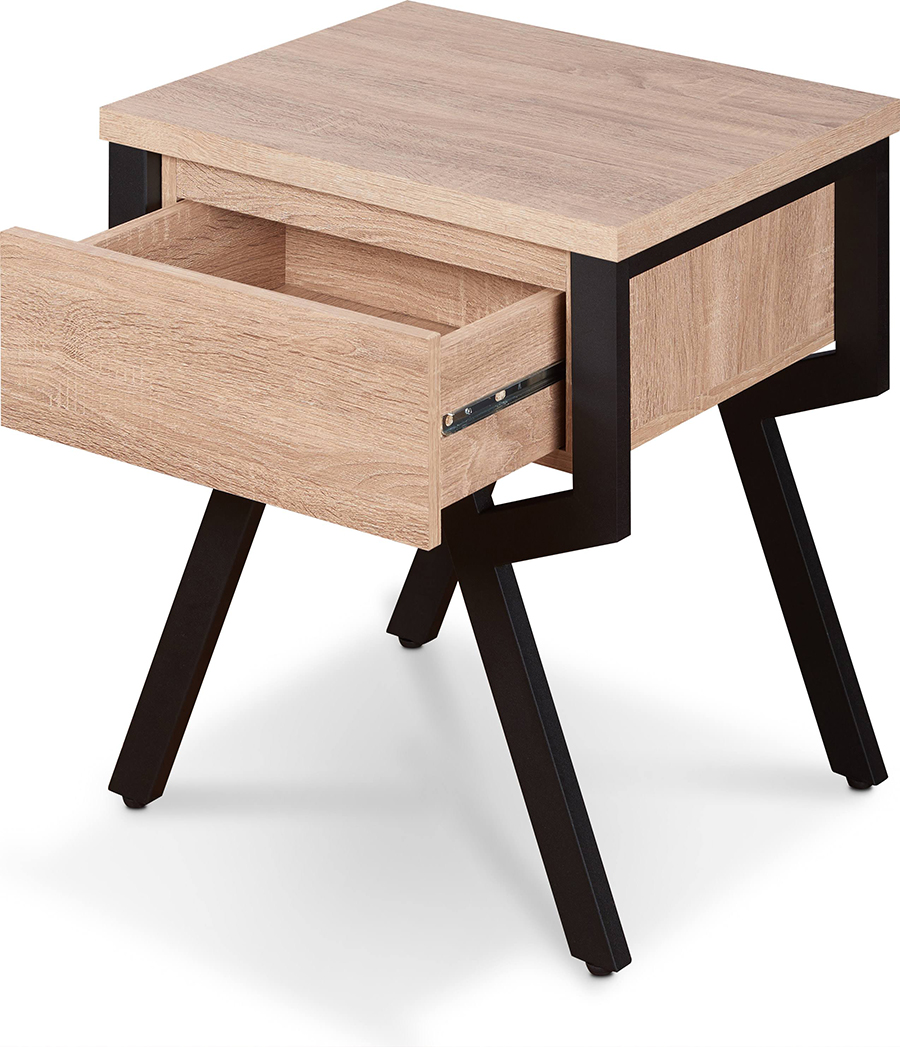 End Table Angle with Drawer Opened