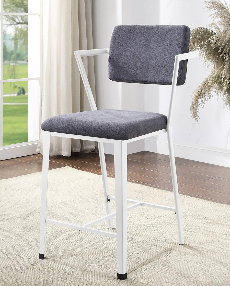 White Counter Height Chair