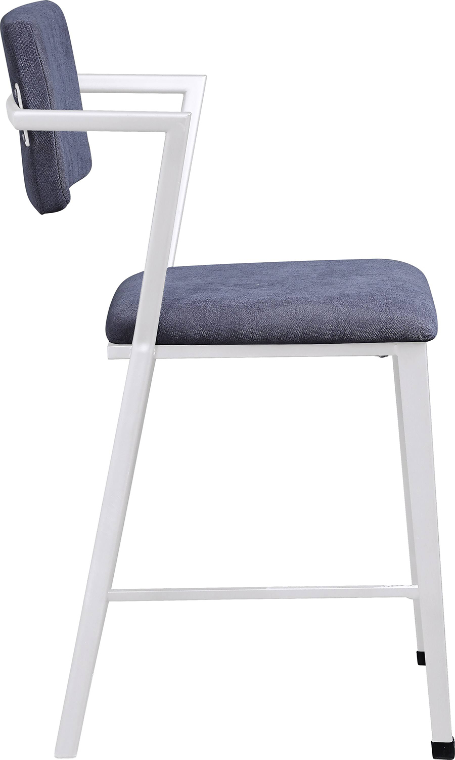 White Counter Height Chair Side