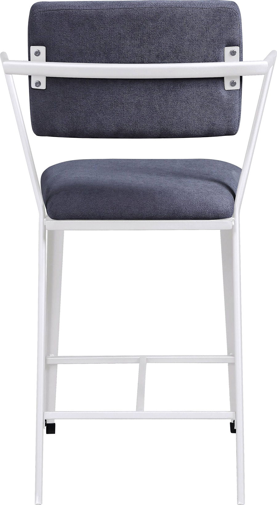 White Counter Height Chair Back