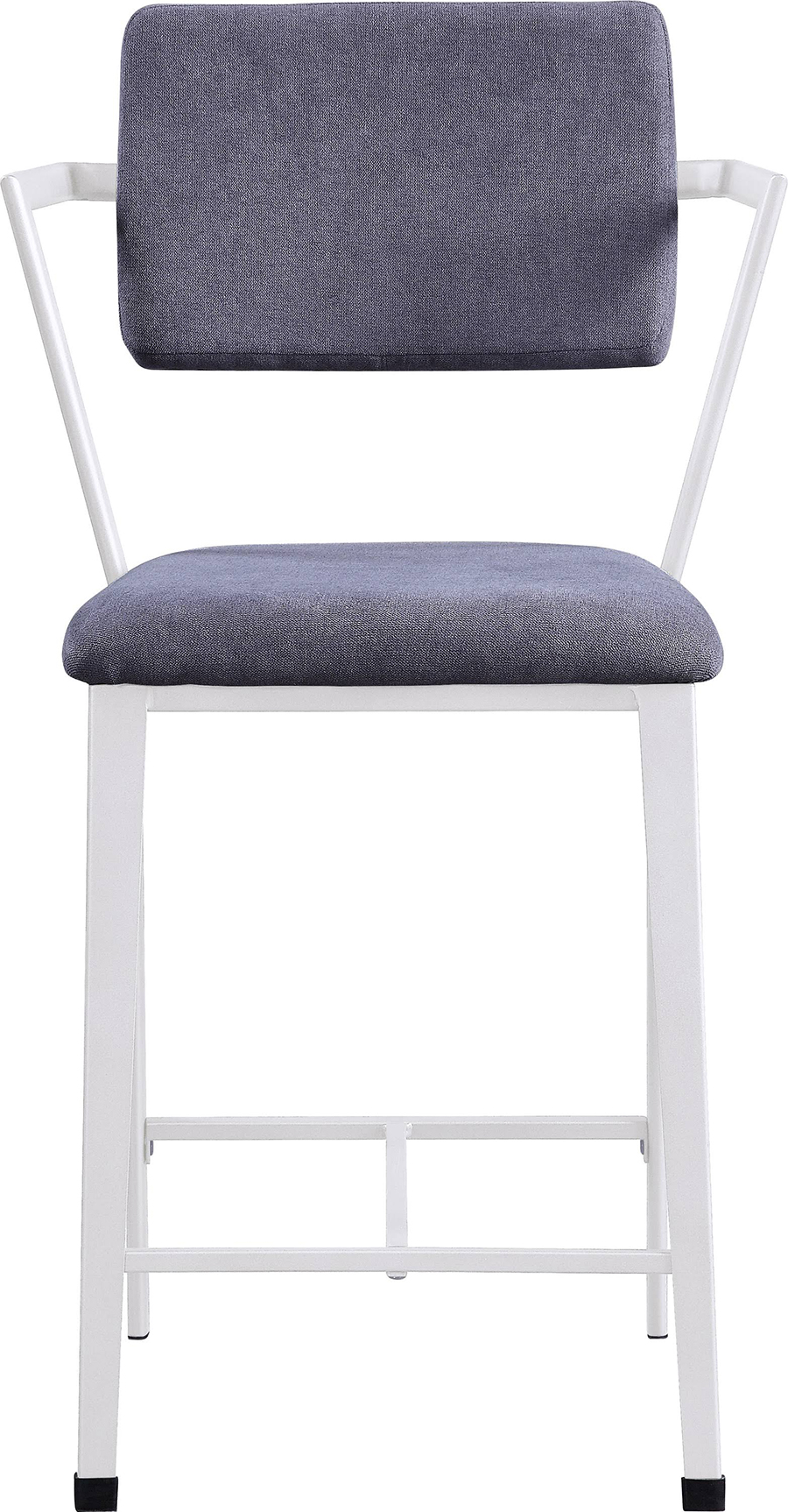 White Counter Height Chair Front