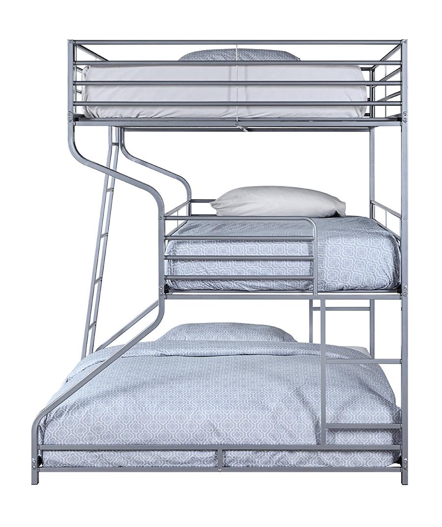 Silver Triple Bunk Bed Side
