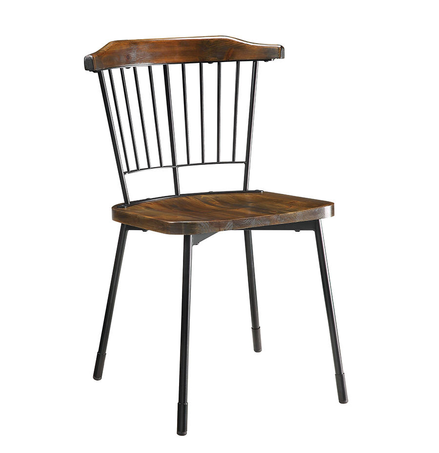 Black & Brown Oak Side Chair Angle