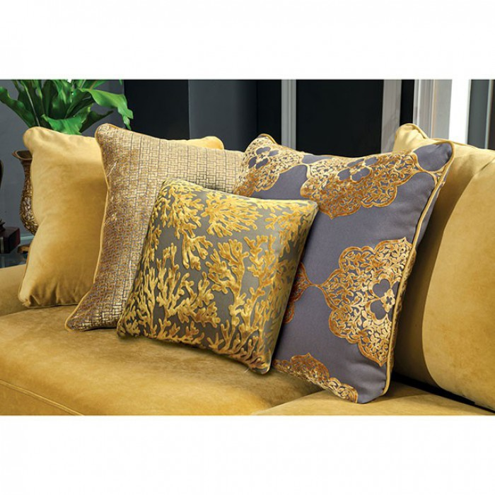 Gold Included Pillows
