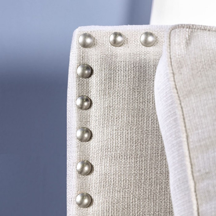 Ivory Nailhead Trim