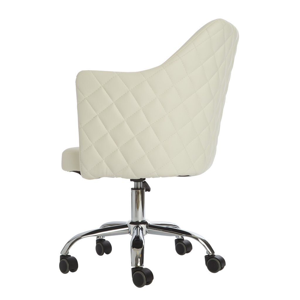 White Vanity Chair Side